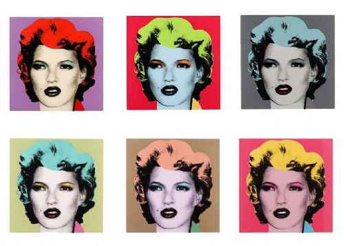 BANKSY - KATE MOSS canvas print - self adhesive poster - photo print